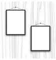 blank frames on wood background vector image