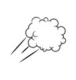 black pencil with reflection drawing fluffy cloud vector image