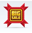 Red Sale Badge With Shadow on White Background vector image vector image