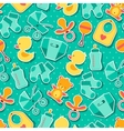 Seamless pattern with newborn baby stickers vector image