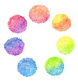 Set of rainbow dotted circles vector image vector image