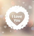 Romantic Love Heart vector image
