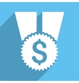Financial Medal Long Shadow Square Icon vector image