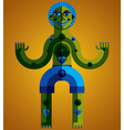 Avant-garde avatar colorful drawing created in vector image
