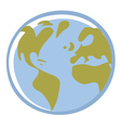 earth cartoon vector image