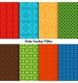Colored traditional arabic patterns set vector image