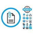 Attach Document Flat Icon with Bonus vector image