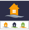 logo design template of house Colorful house icons vector image