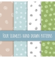 Set of abstract seamless ink patterns vector image