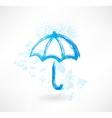 umbrella grunge icon vector image
