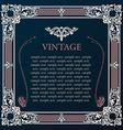 Label frame Vintage tag decor medieval vector image vector image