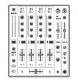 outline sound dj mixer vector image