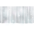Seamless silver background with snowflakes vector image vector image