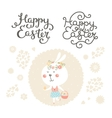 easter collection with bunny vector image
