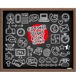 Doodle Customer Service icons vector image vector image