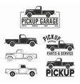 car 4x4 pickup truck off-road logo elements vector image vector image