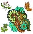 Patterns Flowers and Butterfly vector image