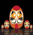 Set of Japanese Daruma Doll vector image
