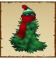 Animal ninja disguised in a Christmas costume vector image