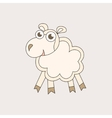 Cartoon sheep character for Christmas and 2015 New vector image