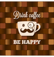 coffee cup concept background vector image