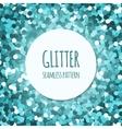 Cyan glitter seamless pattern vector image