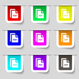 file PDF icon sign Set of multicolored modern vector image