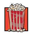 halloween popcorn vector image