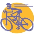 Mountain biker vector image