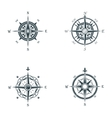 Nautical or marine old navigation compass vector image