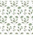 Seamless pattern with green Echinacea plant vector image