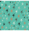 seamless pattern with stars Starry retro vector image