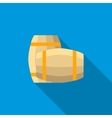 Set of wooden barrels icon flat style vector image