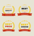 vintage badges collection vector image