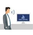 Voice control Smart computer vector image