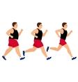 Weight loss running man vector image