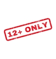 12 Plus Only Text Rubber Stamp vector image