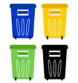 Set of colorful recycle bins isolated on white vector image vector image