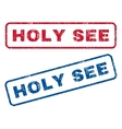Holy See Rubber Stamps vector image