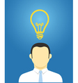 Thinking businessman vector image