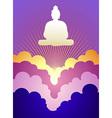 Buddha at sunrise vector image