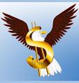 usa dollar eagle vector image vector image