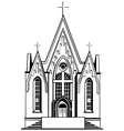 Catholic church vector image vector image