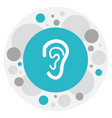of hospital symbol on ear icon vector image