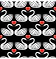swan pattern black vector image