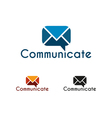 Communicate logo template vector image vector image