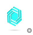 Hexagonal design sign vector image