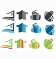 city homes vector image