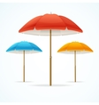 Beach Umbrella Set vector image