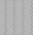 Striped curved seamless pattern vector image